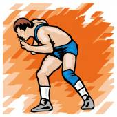 Wrestling icon — Stock Vector