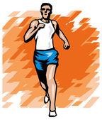 бегун человека — Cтоковый вектор
