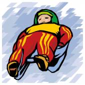 Winter Olympic games - bobsled — Stock Vector