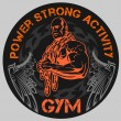 Постер, плакат: GYM Bodybuilding vector emblem