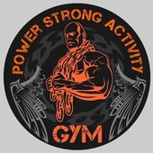 Gym Bodybuilding - vektor emblem — Stockvektor