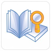Book and magnifier — Stock Vector