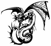 Dragon tattoo — Stockvektor