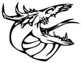 Tatuaggio del drago — Vettoriale Stock