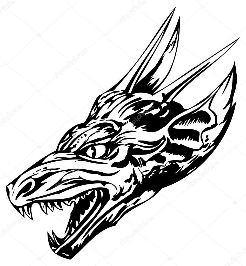 龙纹身 — 图库矢量图像08