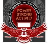 Military Emblem - vector illustration — Wektor stockowy
