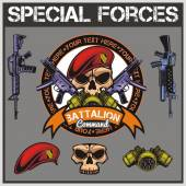 Special forces patch set - stock vector — Stock Vector