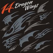 Wings of the dragon. — Wektor stockowy