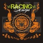 Racing design - vector elements for emblem. — Stock Vector #59974745