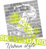 Skateboarding - urban style, vector illustration — Stock Vector