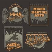 MMA etiketleri - vektör karışık dövüş sanatları tasarım. — Stok Vektör