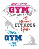 Womens Fitness GYM - vector stock — Stock Vector