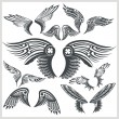 Постер, плакат: Vector Wings Set Vinyl ready illustration