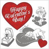 Valentines day - vector set. — Vector de stock