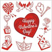 Valentines day - vector set. — Stock Vector