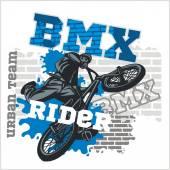Rider BMX - squadra urbano. Disegno vettoriale. — Vettoriale Stock