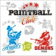 Paintball emblem and logo - vector set — Stock Vector #61864633