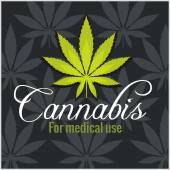 Marijuana - cannabis. For medical use. Vector set. — Cтоковый вектор