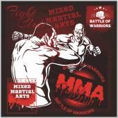 MMA Labels -  Vector Mixed Martial Arts Design. — Stockvektor