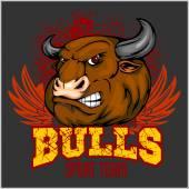 Bull Head Mascot - vector illustration for sport team — Stock Vector