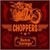 Étiquettes de moto vintage, des écussons et des éléments de design - set vector. — Vecteur