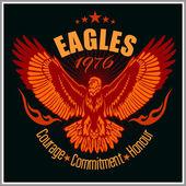 Vintage label Eagle - Retro emblem — Stock Vector