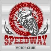 Motorcycle - extreme sport. Vector Emblem. — Stock Vector