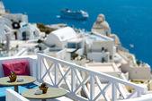 Relaxing in Santorini — Stock Photo
