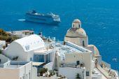 Resorts of Santorini — Stock Photo