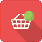 Full basket icon — Stock Vector