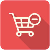 Remove from Shopping Cart icon — Stock Vector