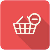 Remove from basket icon — Stock Vector