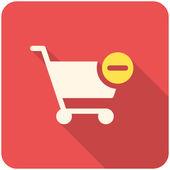 Supprimer de l'icône panier de magasinage — Vecteur