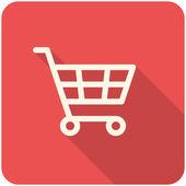 ショッピング カートのアイコン — ストックベクタ