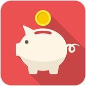 Piggy bank icon — Stock Vector
