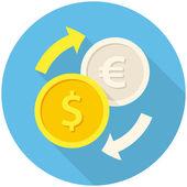 Exchange icon — Stock Vector