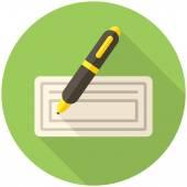 Bank check icon — Stock Vector