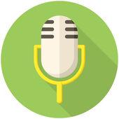 Icono de micrófono — Vector de stock