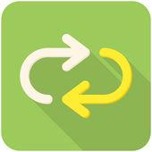 Herhaal pictogram — Stockvector