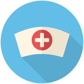 Nurse cap icon — Stock Vector