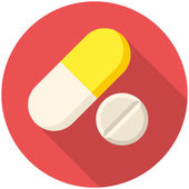 Vitamin pills icon — Stock Vector