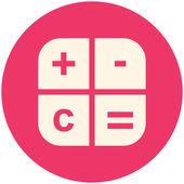 Calc icon — Stock Vector