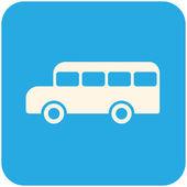 Icono de autobús escolar — Vector de stock