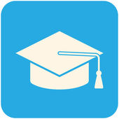 Icône de graduation cap — Vecteur