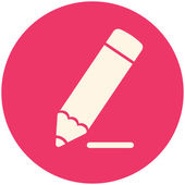 Pencil draws line icon — Wektor stockowy