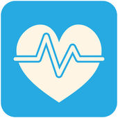 Heartbeat icon — Stock Vector