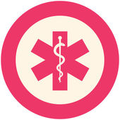 Star of life icon — Stock Vector