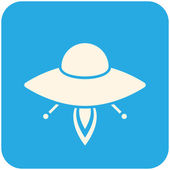 UFO icon — Stock Vector