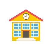 Icône de bâtiment scolaire — Vecteur