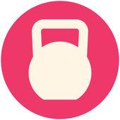 Kettlebell icon — Stock Vector